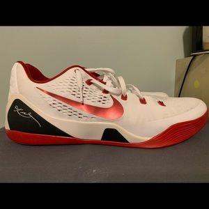 kobe 9 white and gym red